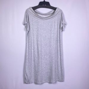 Lou & Grey Dresses - Lou & Grey grey boat neck shirt dress